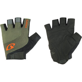 Giro Bravo Gel Cykelhandsker, olive/deep orange